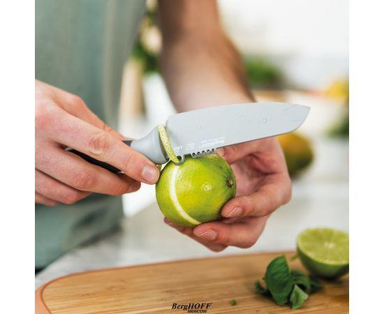 Нож для овощей и цедры 11см Leo (серый)