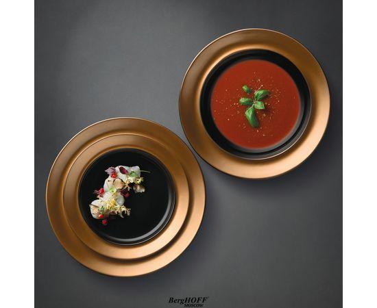Набор тарелок чёрный 3 предмета
