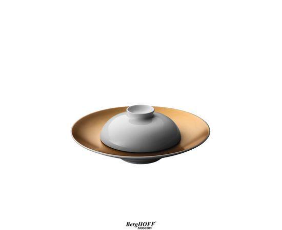 Глубокая сервировочная тарелка с миской белые