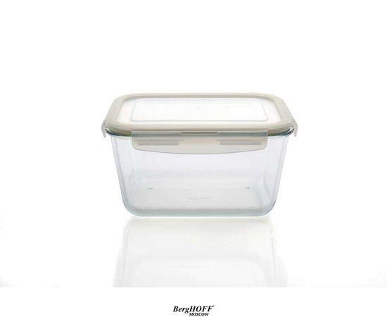 Стеклянный контейнер с пласт. крышкой 23,5*17*13 см 2,7 л